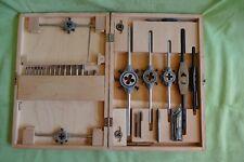 VIS Set Gewindeschneider und Glasbohrer in Holzkiste