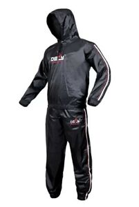 DEFY Heavy Duty Sauna Sweat Suit Exercise Training Gym Suit Fitness, (Large)
