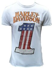 Stars Bande H D Classic Authentic Harley Davidson Strass USA 1 one T-shirt S
