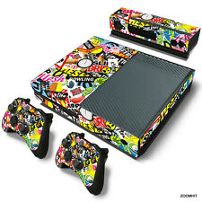 Xbox One Console Skin Decal Sticker Graffiti + 2 Controller & Kinect Skins Set