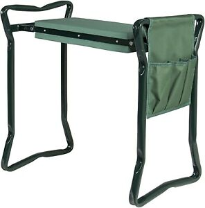 Garden Kneeler and Seat with Tool Pouch + Fiskars 3 piece Softouch Gardern Tool