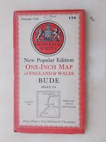 VINTAGE 1946 ORDNANCE SURVEY SHEET MAP No 174 BUDE