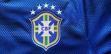 Nike Authentic Brazil Blue Soccer Jersey Men's Large Futbol Excellent Pre Owned