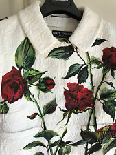 £1300 DOLCE & GABBANA New !! ROSES BROCADE Sicily Crop JACKET size 42 with tags
