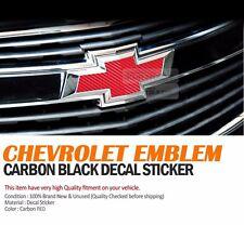 CHEVROLET Emblem Decal Sticker  Red Carbon For CHEVROLET 2008-2012 Cruze