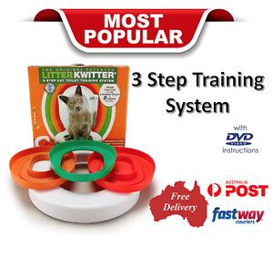 Cat Toilet Training System 3 Step  Litter Kwitter®  Pet Cat Training