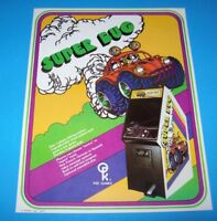 Atari Kee Games SUPER BUG Original 1977 NOS Video Arcade Game Flyer VW Bug Race
