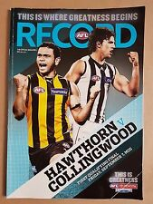 AFL Record - 2012 First Qualifying Final - Hawthorn vs Collingwood