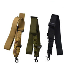 Tactical 1 Single Point Rifle Gun Sling Strap Adjustable Bungee Hunting Outdoor