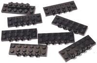 LEGO - 8 x Konverter Platte 2x6x2/3, 4 Noppen seitlich schwarz / 87609 NEUWARE