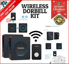 Front Home Wireless Doorbell 2 Chime 1000ft Long Range Loud Melodies Waterproof