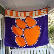 "The Northwest Co NCAA Clemson Tigers 51""x60"" Thick Plush Stadium Blanket Throw"