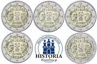Deutschland 5 x 2 Euro 2013 Elysee Vertrag Mzz A D F G J bankfrisch Komplettsatz