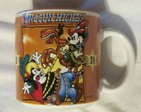 Vintage Walt Disney Two Gun Mickey Mouse Ceramic Coffee Cup Mug Made in Japan