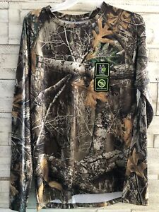 NEW Mens RealTree EDGE Camo Long Sleeve Tee Shirt UVF INSECT Repel Size Medium