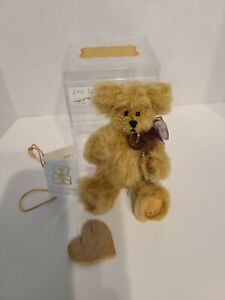 "LITTLE GEM 3 1/2"" TAN TEDDY BEAR NIB"