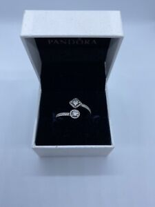 Auth Pandora Double S925 Silver Ring Size 54
