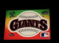 Vintage MLB Baseball Card, 1983 FLEER, SAN FRANCISCO GIANTS  TEAM LOGO STICKER