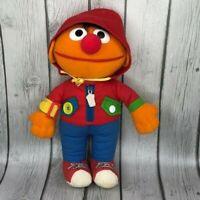"Sesame Street Dress Me Up Ernie 13"" Plush Vintage 1990 Playskool Doll"