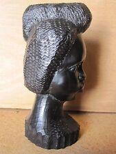 Sculpture statue ébène massif Afrique années 50