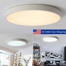 12-24W LARGE LED Ceiling Light Flush Mounted Living Room Kitchen Bedroom Lamp