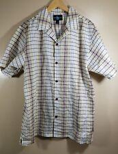 Steve Harvey Men's Celebrity Edition 100% Linen Short Sleeve Shirt Plaid Large