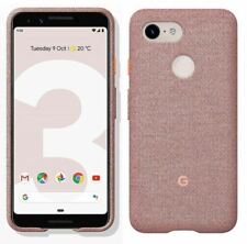 Genuine Official Google Pixel 3 Fabric Case Cover GA00492 - Pink Moon