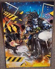 Lobo vs Batman Glossy Art Print 11 x 17 In Hard Plastic Sleeve