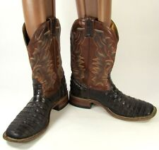BOULET MEN'S CROCODILE COWBOY BOOTS MADE IN CANADA ~ SIZE 9E (9D USA)   ~ 8528