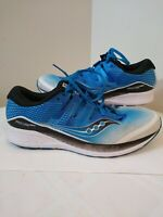 Saucony Ride ISO series Everun Men's 11.5 US Running Shoes Blue & White S20444-1