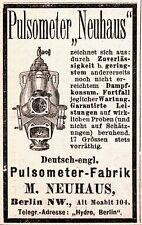 Pulsometer fábrica máquina de vapor Neuhaus 1884 publicitarias (n)