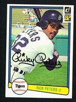 Rick Peters #155 signed autograph auto 1982 Donruss Baseball Trading Card