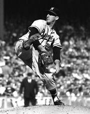 1958 Milwaukee Braves WARREN SPAHN Glossy 8x10 Photo World Series Print Poster