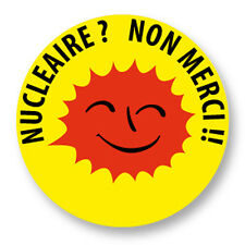 Pin Button Badge Ø38mm Stop Anti  Nucleaire Nuclear