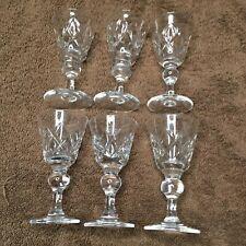More details for 6 vintage old hall bridge lead crystal sherry glasses