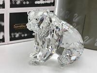 Swarovski Figurine ⭐⭐ 243880 Ours Grizzly Assis 9 cm ⭐⭐Emballage & Certificat