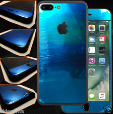 Pellicola Skin Wrap Adesivo Apple iPhone 7 plus Specchio Blu / Blue Mirror