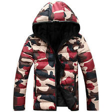 New Winter Men and Women Couple Camouflage Down Cotton Padded Hooded Coat Jacket