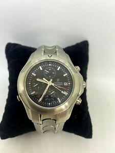 Festina 8977 Chronograph Alarm WR 100m Silver Tone Watch