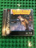 Big Bass World Championship Playstation One PS1 PSX Video Game Complete Hot-B