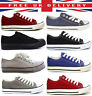 Ladies Womens Flat Canvas Girls Plimsolls Pumps Trainers Lace Up Shoes Trainers