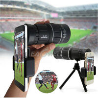 NEW 16x52 Zoom Monocular Telescope Lens Camera HD Scope+Phone Holder Tripod US