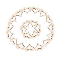 50X 3cm Wooden Mini Hollow Love Heart Wood Cutout Wedding Craft Embellishment DS