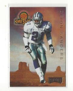1996 Playoff Super Bowl Card Show #1 Deion Sanders Cowboys