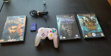 MadCatz  Wired Nintendo Gamecube Controllers Purple, Memory Card & 3 Games