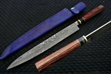 "18"" CUSTOM HANDMADE DAMASCUS JAPANESE CHEF KNIFE / CAN BE IN D2 STEEL TOO"