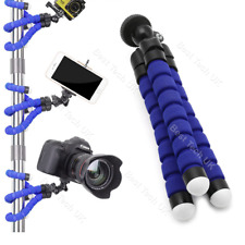 Azul Cámara Pentax DSLR SLR trípode flexible Gorila Pulpo Soporte Soporte 1/4-20