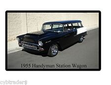1955 Chevrolet Handyman Station Wagon Auto Refrigerator / Tool Box  Magnet