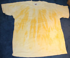 T-shirt a mano Batik (gialli) taglia XL FRUIT OF THE LOOM