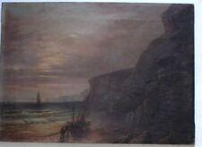 19th century OIL PAINTING on canvas NORFOLK COAST